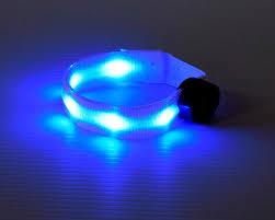 led light up multicolor safety armband eternity led