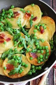 thanksgiving peas pan seared ravioli with bacon peas and arugula