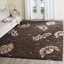 Shaggy Area Rugs 8 X 10 Dark Brown Shag Area Rugs Rugs The Home Depot