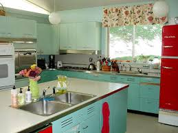 nancy u0027s metal kitchen cabinets get a fresh coat of paint and