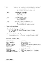Inspector Resume Sample by Qc Inspector Resume Format Contegri Com