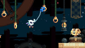 first gameplay from flinthook a grappling hook rogue lite from