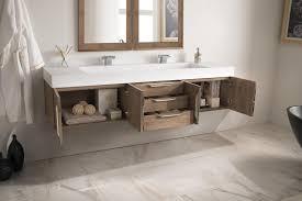 Bathroom Vanity 72 Inch Wall Mounted Bathroom Vanity Latte Oak Finish With