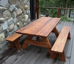 Build A Picnic Table Kit by Chic Large Picnic Table How To Build A Picnic Table And 6 Benches