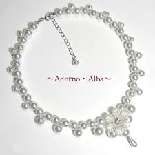 adorno alba rakuten global market wedding bridal necklace