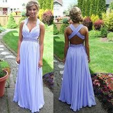 light purple long dress aliexpress com buy light purple crossed back prom dresses