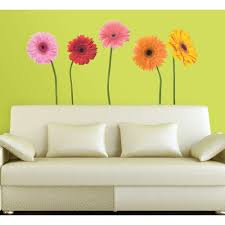 roommates gerber daisies peel and stick 25 piece wall decals