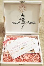 bridesmaids invitation boxes will you be my bridesmaid of honor boxes will you be my
