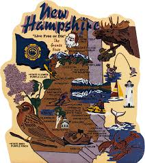 New Hampshire State Map by State Map New Hampshire The Cat U0027s Meow Village