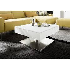 Wohnzimmertisch Uhr Couchtisch Mariko Beistelltisch Wohnzimmertisch Tisch In Weiß Matt