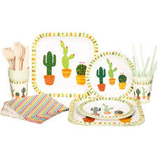 riscawin the cactus paper plates birthday wedding decoration