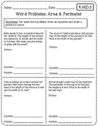 area circumference word problems pictures to pin on pinterest