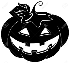 black and white halloween pumpkin clipart silhouette of a halloween pumpkin digital illustration stock photo