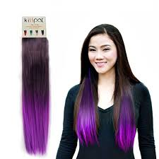 ombre hair extensions kisspat purple fashion ombre dip dyed hair