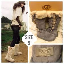 womens ugg boots with laces 82 ugg boots ugg australia lace up boots grey