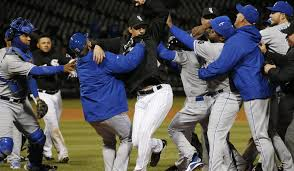 royals white sox get into benches clearing brawl la times