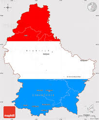 World Map With Flags Flag Simple Map Of Luxembourg