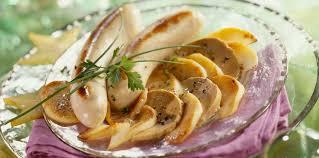 cuisiner le boudin blanc boudin blanc aux pommes et foie gras facile recette sur cuisine