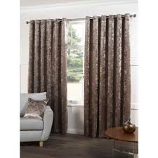 Crushed Velvet Fabric For Curtains Buy Crushed Velvet Beige Eyelet Curtains 46x90 Inches 117x229cm