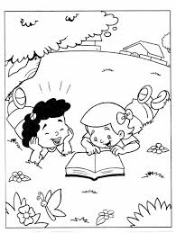 coloring pages child reading bible archives mente beta most