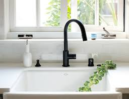 kitchen faucet finishes must see now trending in cool faucet finishes black is