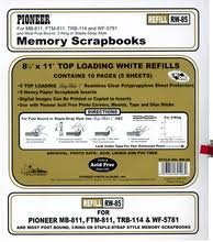 pioneer photo album refills pioneer rw 85 8 1 2x11 white memory book refill pages for wf5781