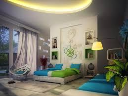 Green Blue White Contemporary Bedroom Decor Interior Design Ideas - Modern contemporary bedroom designs