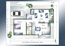 3bhk House Map Groundfloor Including Home Plan Design Bhk Modern