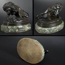 barye lion sculpture after antoine louis barye bronze lion with snake expertissim