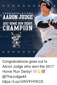 congratulation poster congratulation s aaron judge 2017 home run derby champion t t