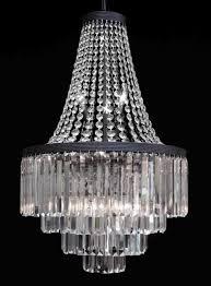 3 Tier Chandelier G7 2183 11 Gallery Chandeliers Retro Odeon Glass Fringe 3