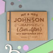engraved wedding guest book wedding ideas wedding ideas fantastic personalised gifts for