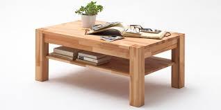 Wohnzimmertisch Holz Quadratisch Couchtisch Massivholz Wildeiche Alisa Moebella24