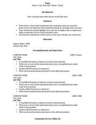 Student Worker Resume Examples Of Resumes Mock Resume Fill In The Blanks With Job