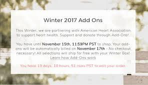 last day for fabfitfun winter 2017 box add ons selections