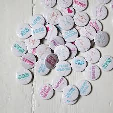 pack of 50 wedding favour badges by twenty seven