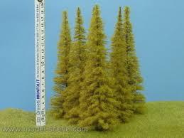 realistic autumn larch tree small 20cm set of 3