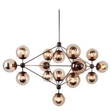 glass chandelier globes jason miller modo chandelier 4 sided 15 globes bronze smoke glass