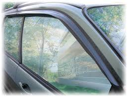 tape on outside mount window visors rain guards shades wind