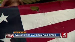 How To Dispose Of An American Flag When Torn U S Flag Damaged Ripped From Woman U0027s Home Newschannel 5 Nashville