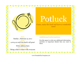 potluck flyer template 28 images potluck dinner flyer images
