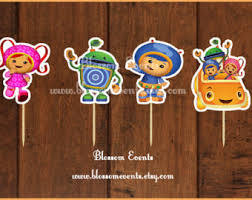 umizoomi cake toppers umizoomi cupcakes etsy