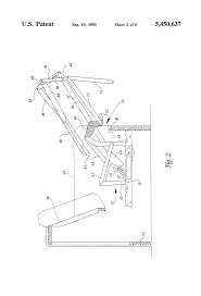 Sofa Bed Support by Patent Us5450637 Folding Sofa Bed Frame Structure With Movable