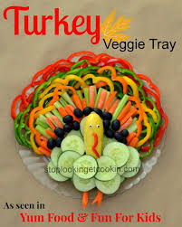 turkey tree wreath vegetable trays with yum food and for
