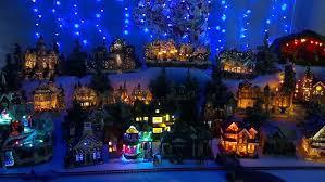 christmas village lights christmas lights decoration