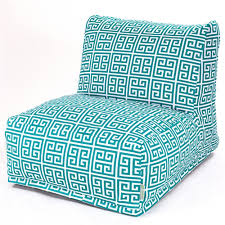 Indoor Outdoor Furniture by Indoor Outdoor Greek Key Beanbag Lounge Chair U2014 Turquoise Blue