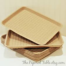 tray plates food trays 8 brown kraft trays disposable plates sturdy