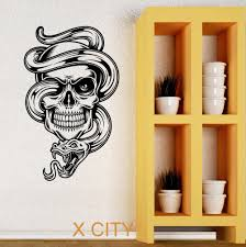 compare prices on wall stencils abstract online shopping buy low skull snake tattoo cool tribal wall art decal sticker removable vinyl transfer stencil mural home room