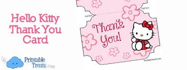 printable hello kitty thank you cards u2014 printable treats com