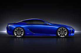 lexus sports car blue 2018 lexus lc 500 packs 471 hp goes on sale next may